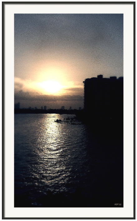 Evening In Miami Beach Print