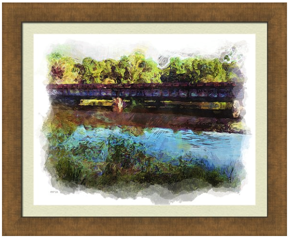 River Railroad Trestle Prints