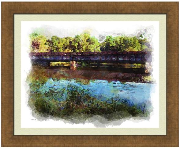 River Railroad Trestle Prints