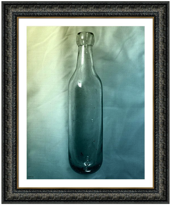 Round Bottom Bottle Framed Print