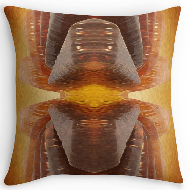 Glowing Glass Throw Pillow