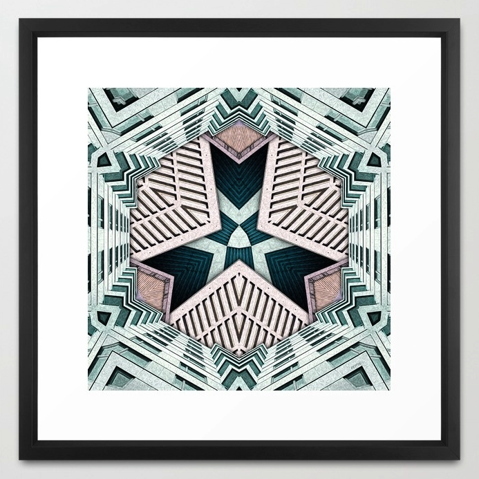 Abstract City Buildings Framed Print
