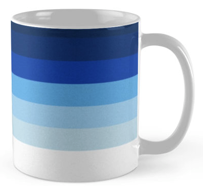 Blue Lines Coffee Mug