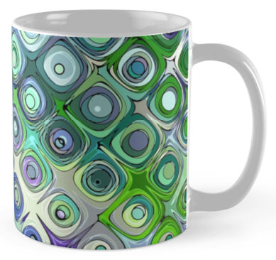 Green Circles Pattern Coffee Mug