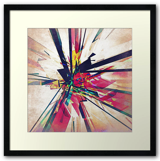 Abstract Geometry Framed Print