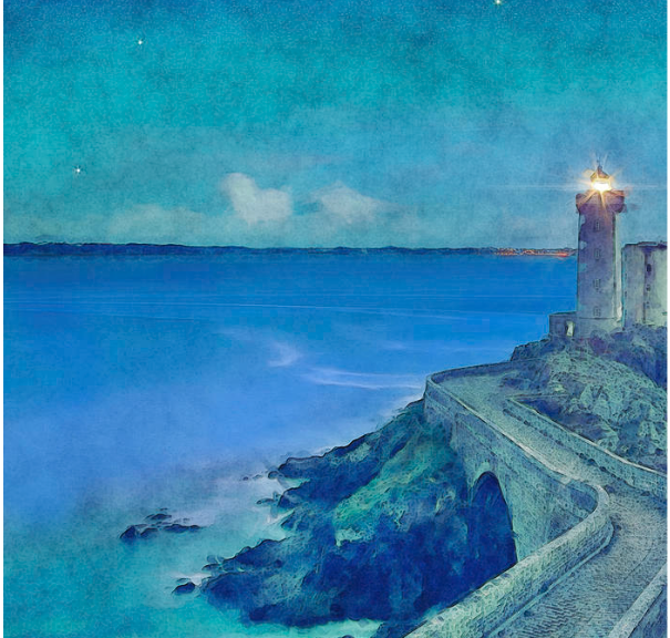 Harbor Lighthouse At Dusk
