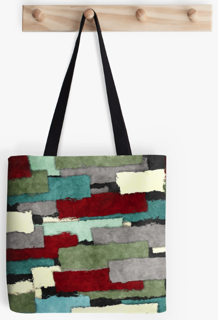 Colorful Patches Tote Bag