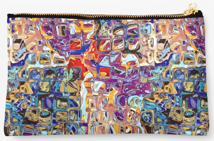 Abstract Glass Blocks Studio Pouch