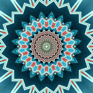 Blue And Turquoise Pattern