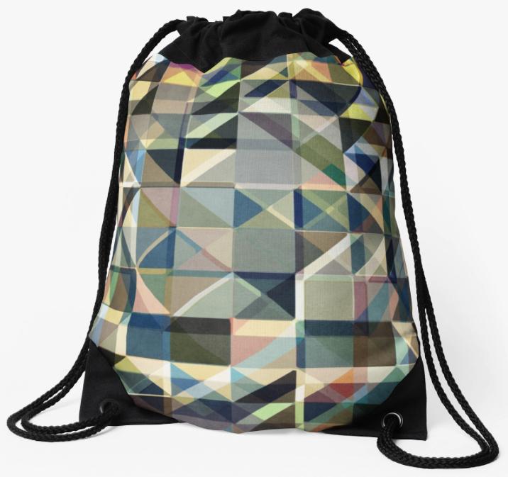 Earth Tones Drawstring Bag