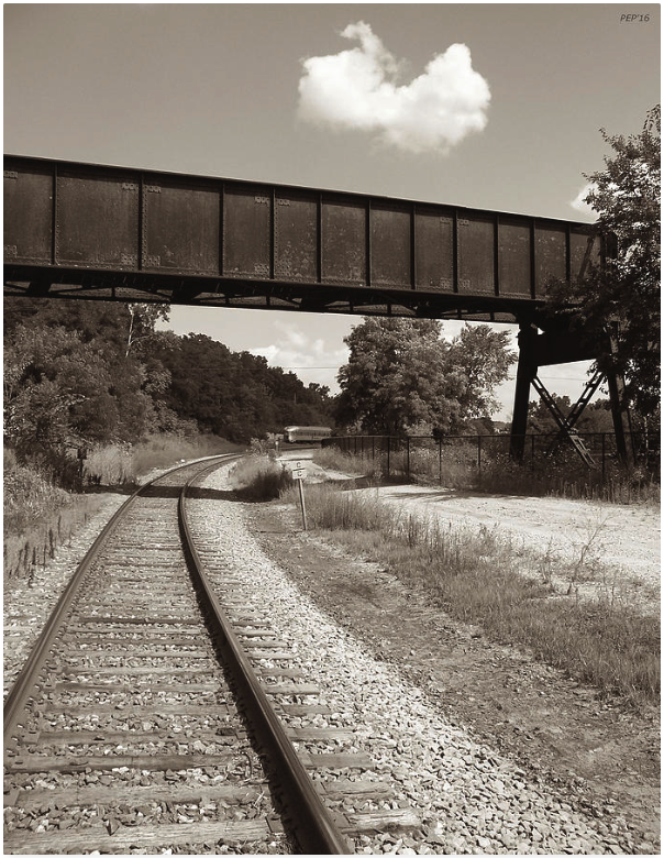Sepia Tone Train Tracks