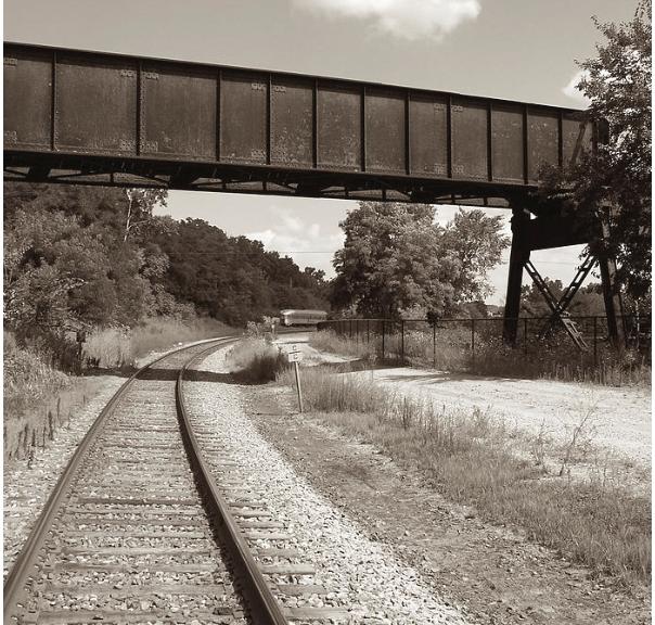 Sepia Tone Train Tracks