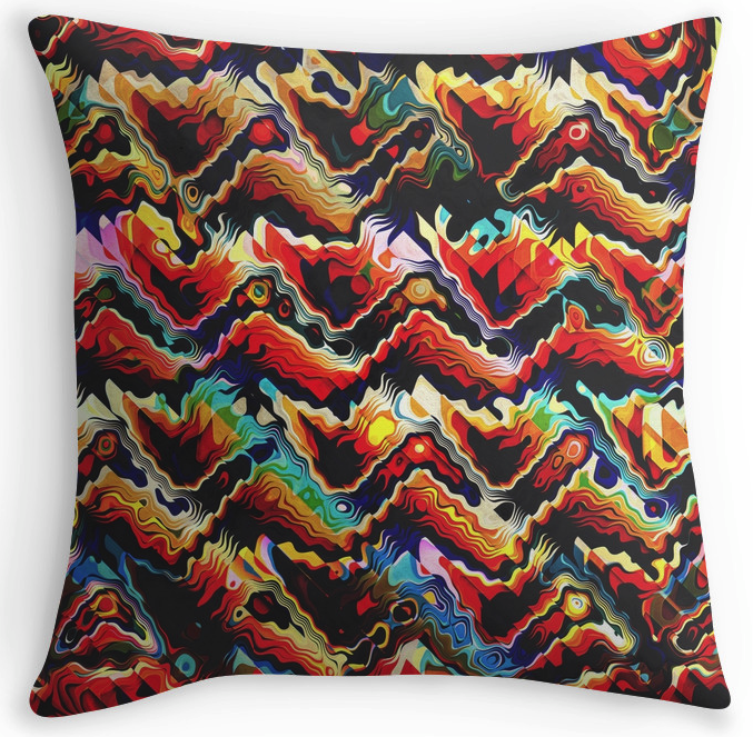 Abstract Geometric Throw Pillow