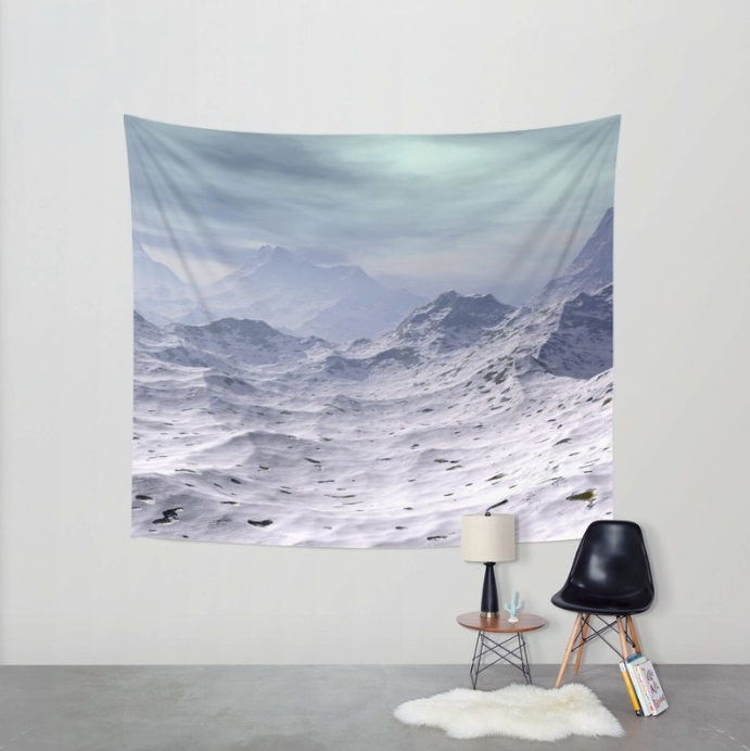 Snow Covered Mountains Tapestry