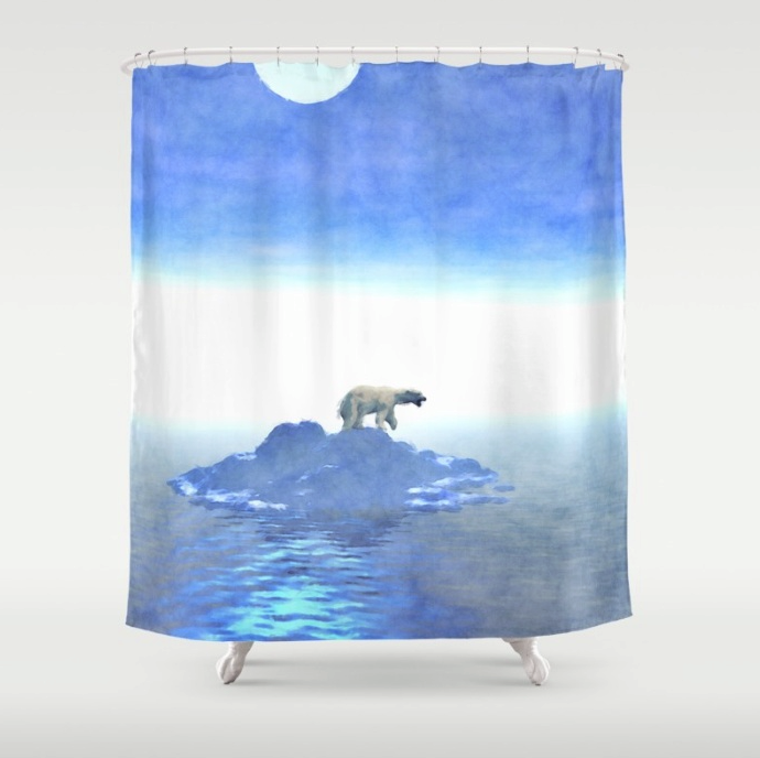 Arctic Polar Bear Shower Curtain