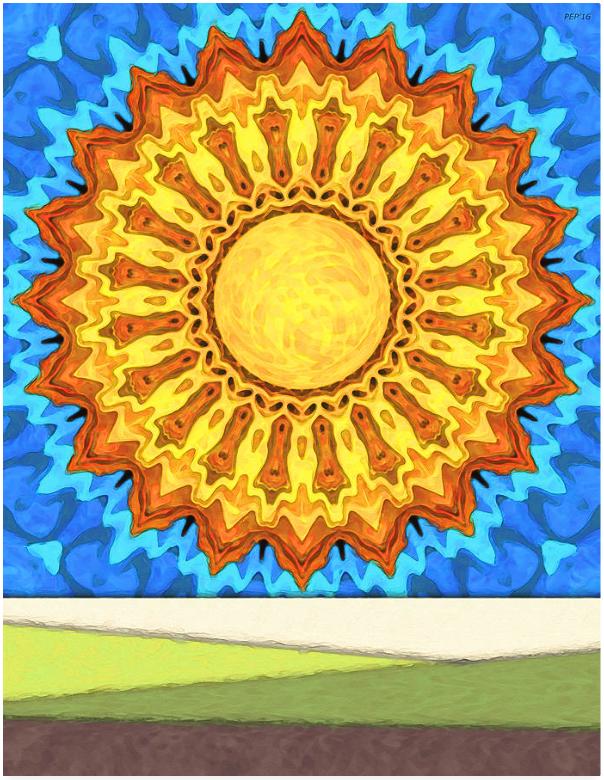 Big Sun In A Blue Sky