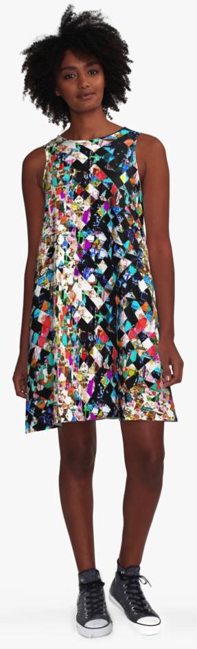 Colorful Pattern A-Line Dress