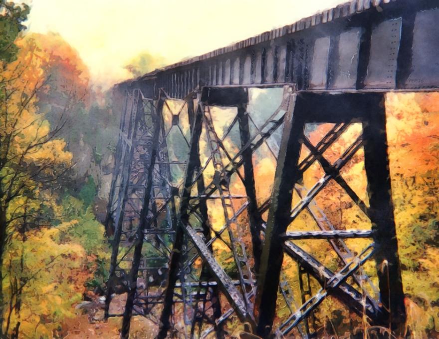 Upper Peninsula Train Trestle