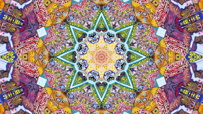 Symmetrical Colors Abstract