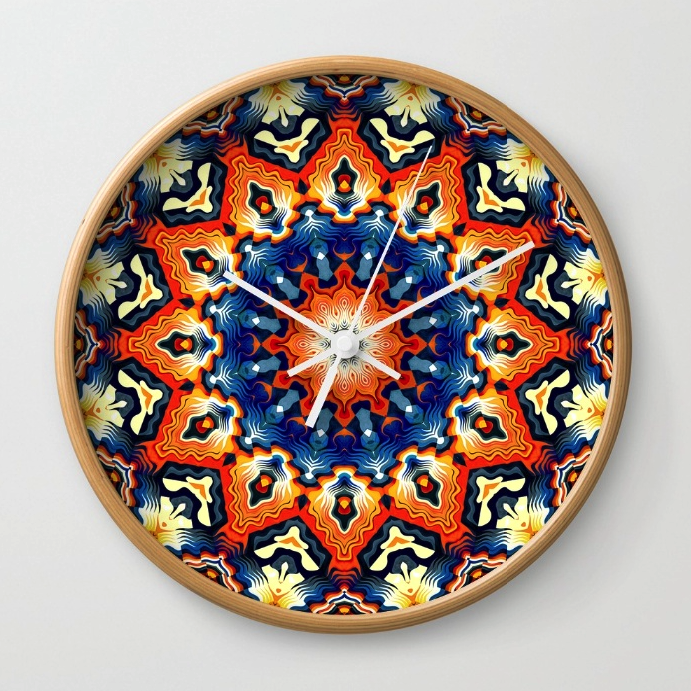 Colorful Tribal Pattern Wall Clock