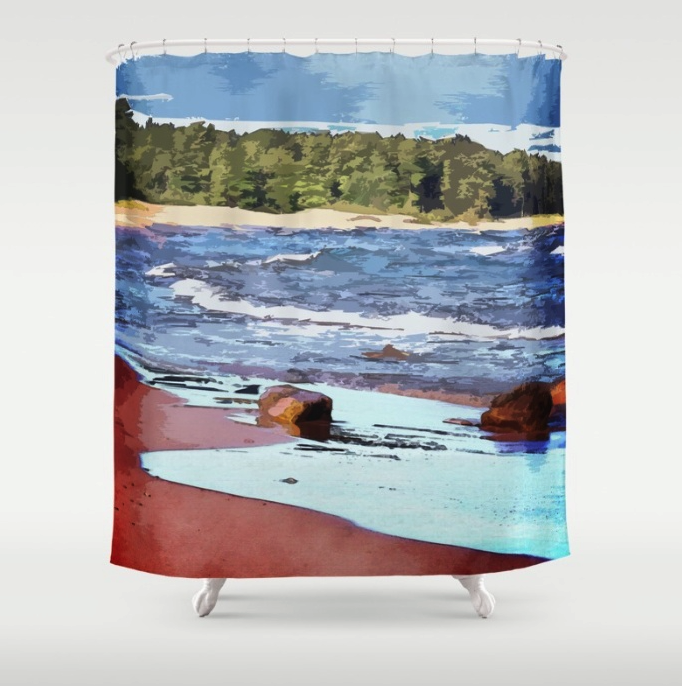 Lake Superior Bay Shower Curtain