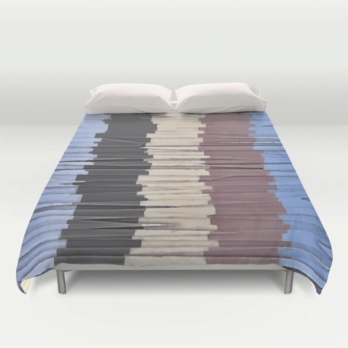 Shreds of Color Duvet Cover
