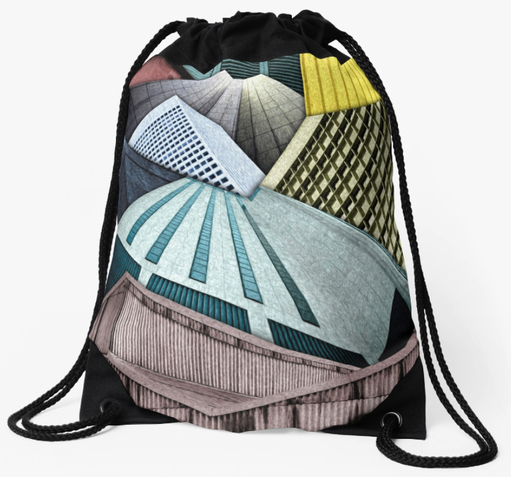 City Structures Drawstring Backpack
