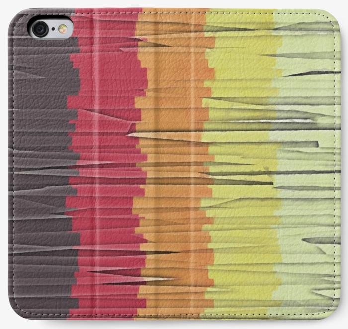 Shredded Stripes of Color Phone Wallet