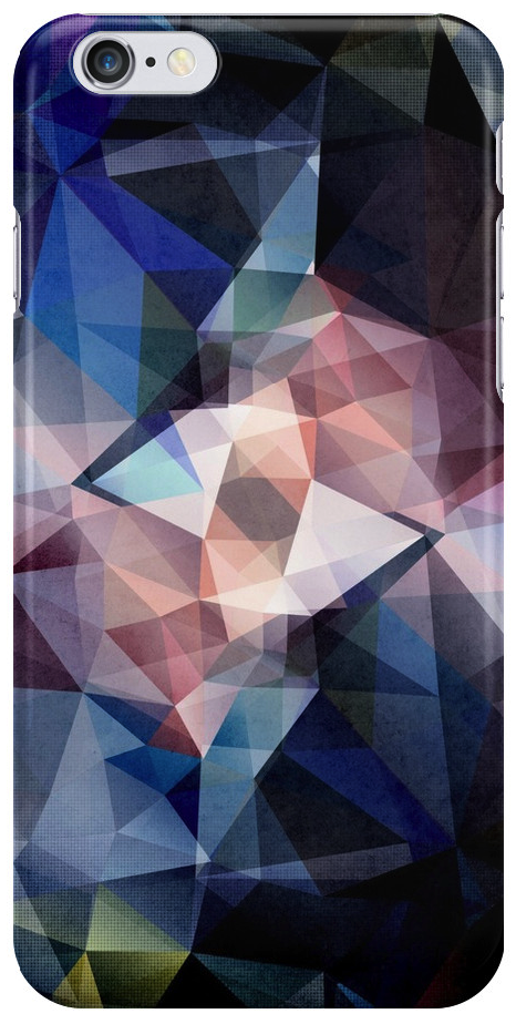 Textured Triangle Abstract iPhone Case
