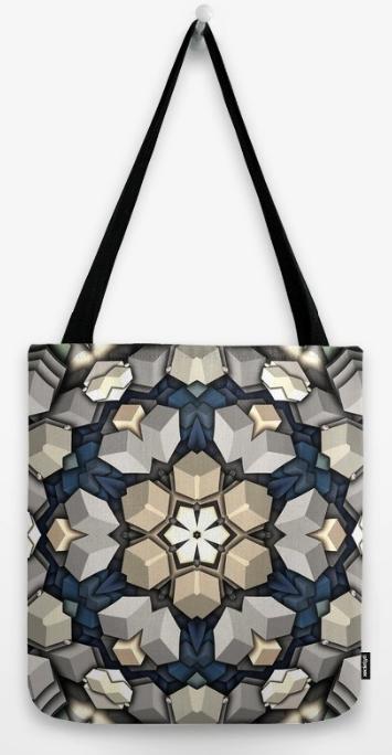 3D Cubes Tote Bag
