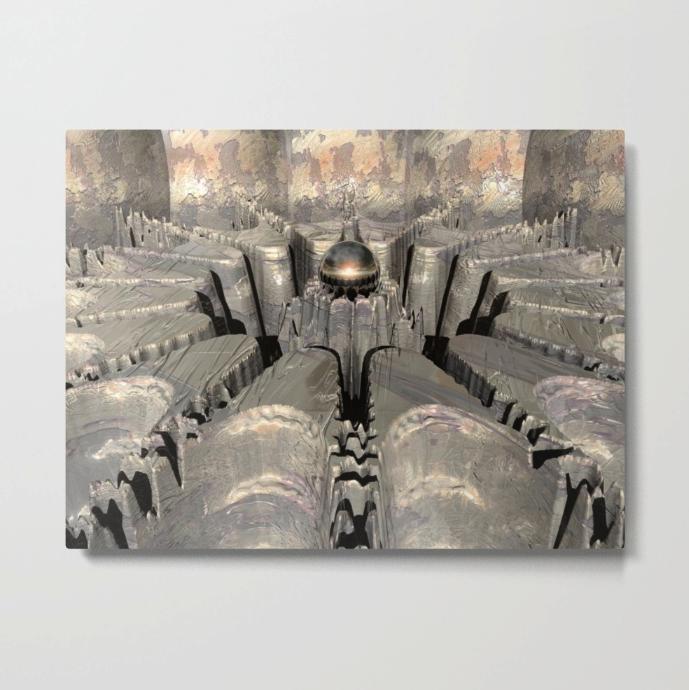 Surreal Macro Sphere Metal Print