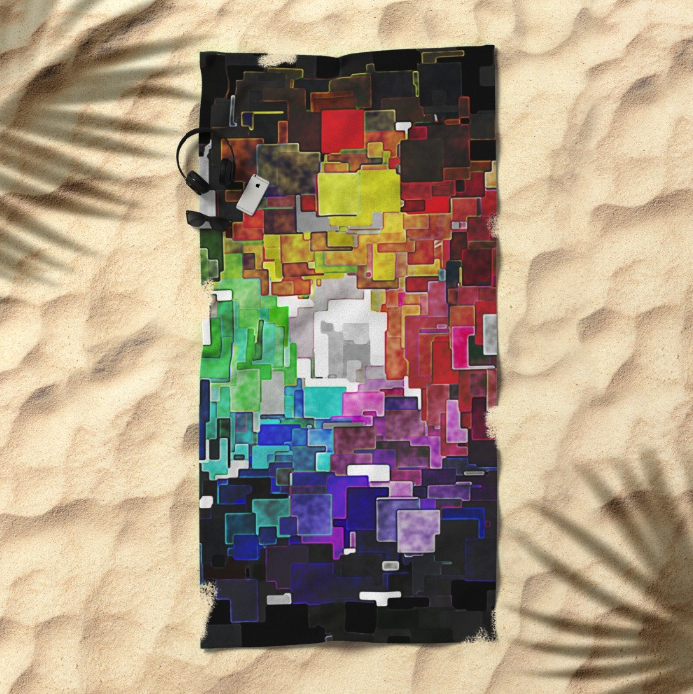 Abstract Geometric Beach Towel