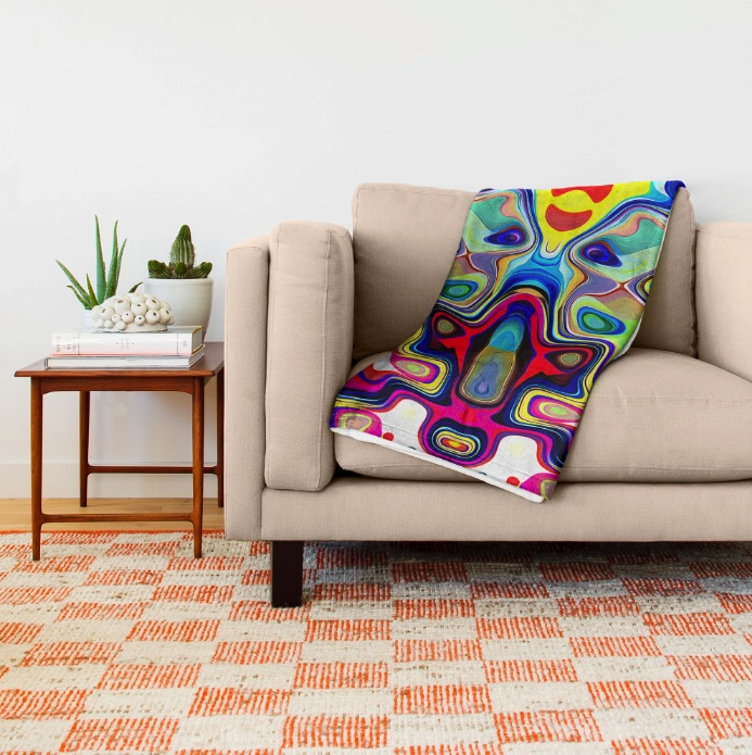 Abstract Pop Art Throw Blanket