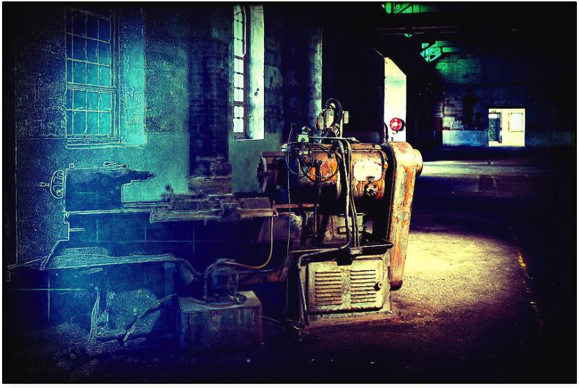 Vintage Industrial Blueprint