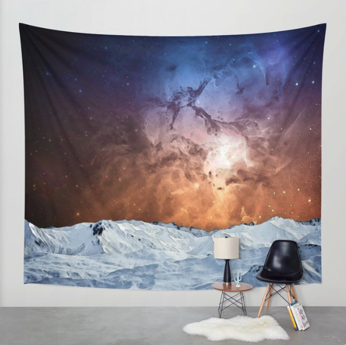 Winter Cosmos Wall Tapestry