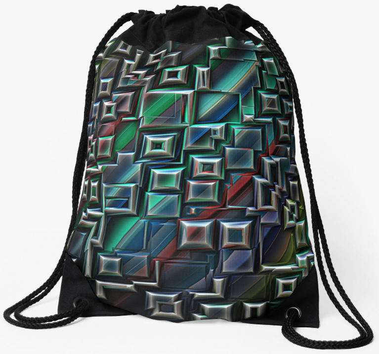 Abstract 3D Geometric Backpack