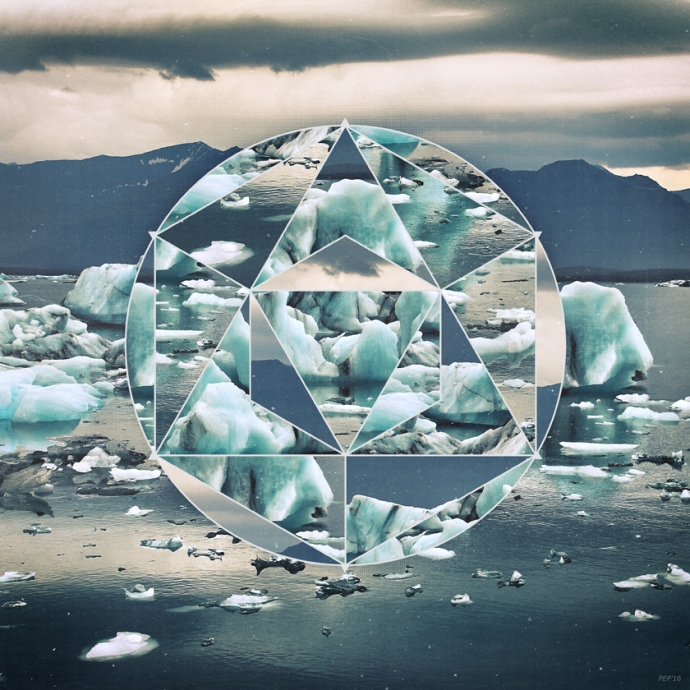 Geometric Icebergs Abstract