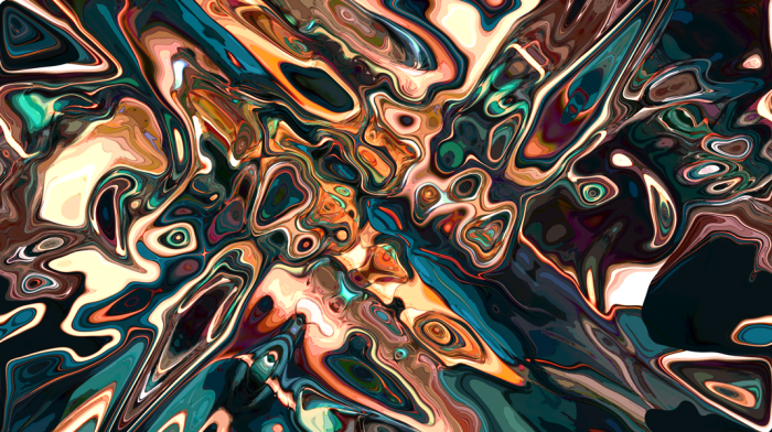 Melting Copper Abstract