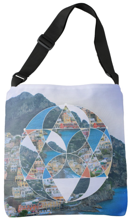 Geometric Village Tote Bag