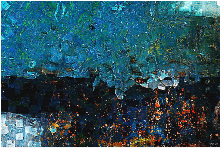 Textured Turquoise Abstract