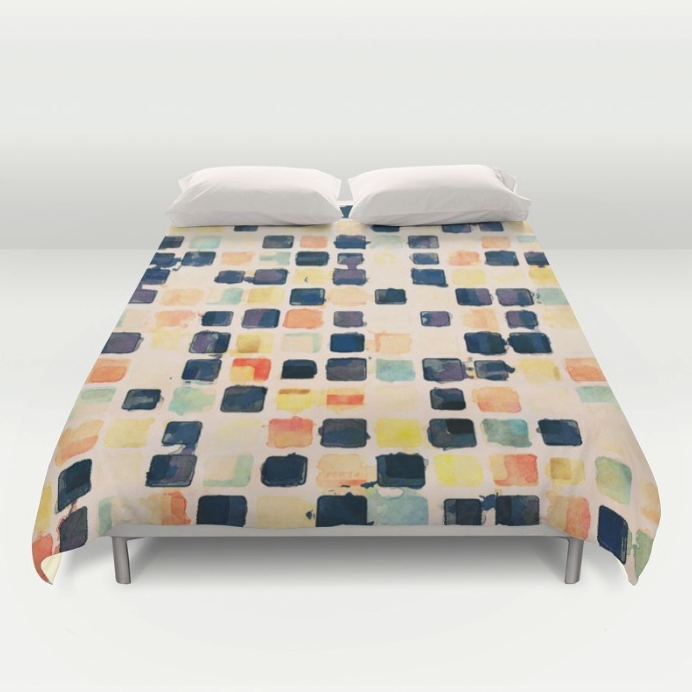 Textured Tiles Duvet Cover
