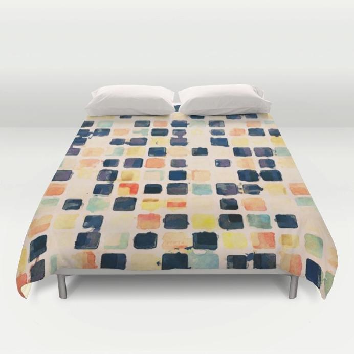 Textured Tiles Duvet Cover