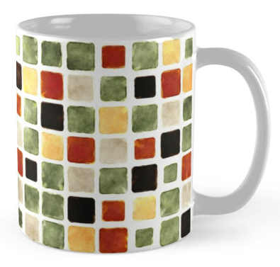 Geometric Grunge Coffee Mug