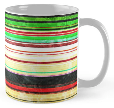 Grunge Stripes Coffee Mug