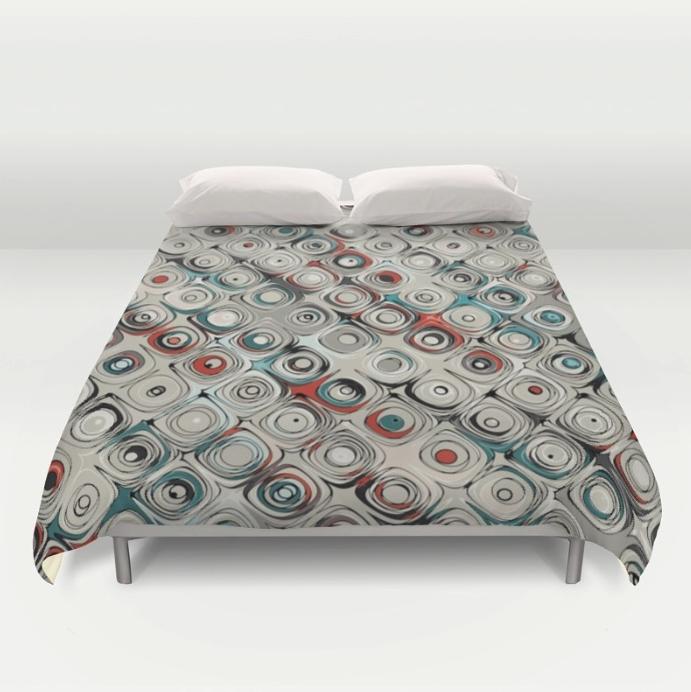 Beige Pattern Duvet Cover