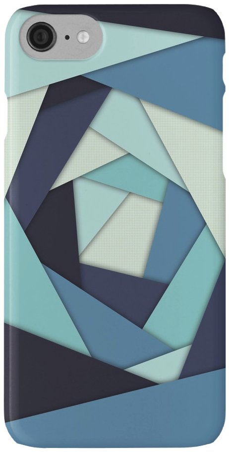Layers of Blues iPhone 7 Case