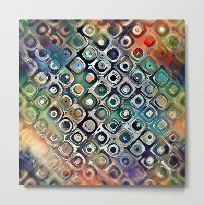 Metal Print of Abstract Circles