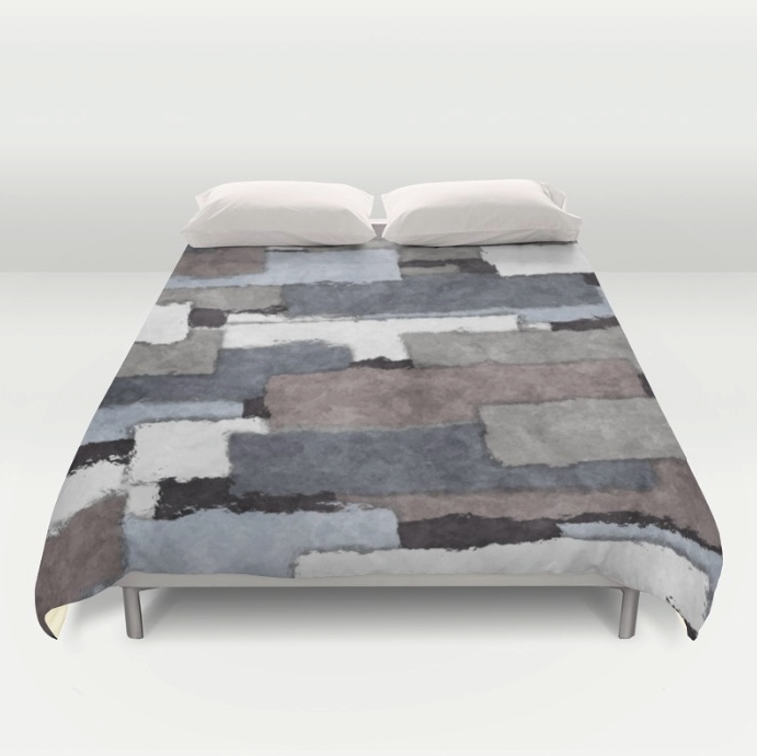 Textured Gray Duvet Cover