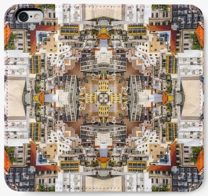 City Buildings iPhone Wallet