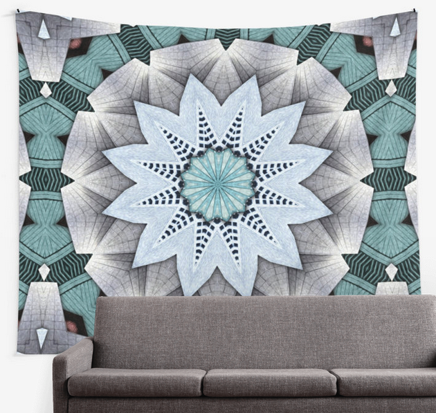 Concentric Turquoise Wall Tapestry